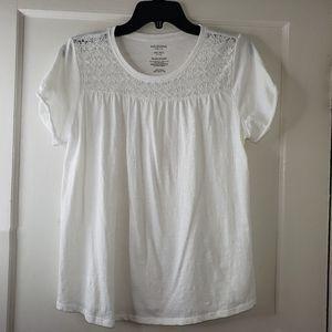 Arizona Jean Co. Girl's Plus Size Top White Lace